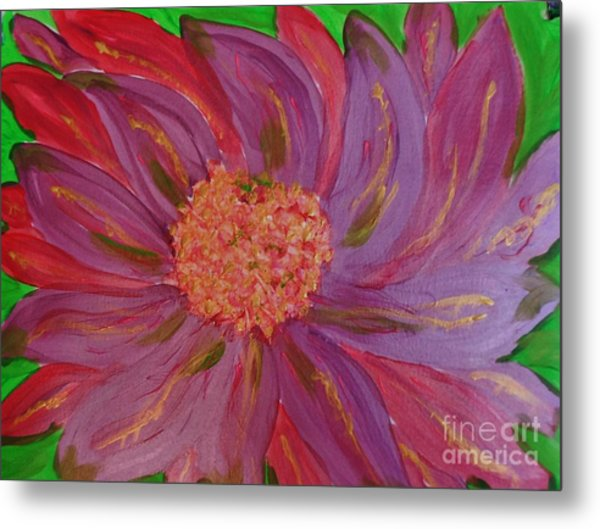 A Brilliant Flower Metal Print by Marie Bulger