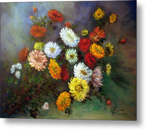 A Bunch Of Flowers Metal Print