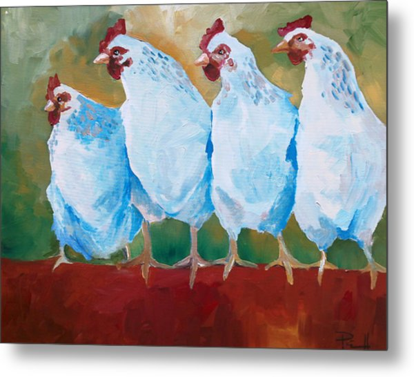 A Bunch Of Old Clucking Hens Metal Print