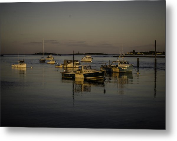 A Calm Evening At Camp Ellis Metal Print by Jonathan Ramsdell