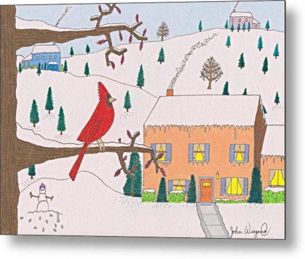 A Cardinal Christmas Metal Print