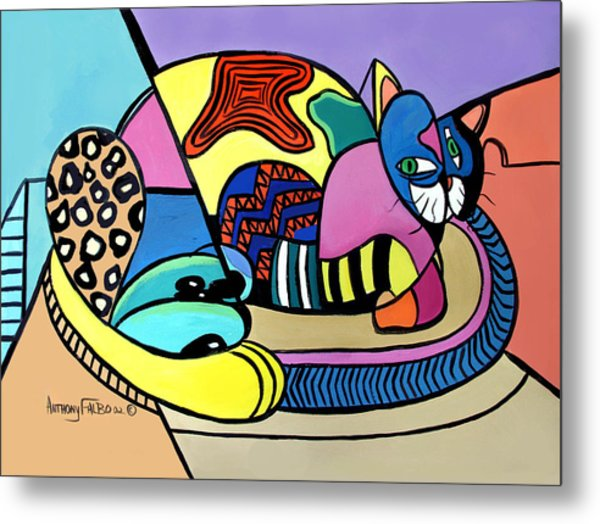 A Cat Named Picasso Metal Print