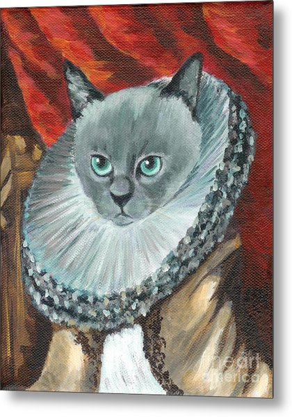 A Cat Of Peter Paul Rubens Style Metal Print