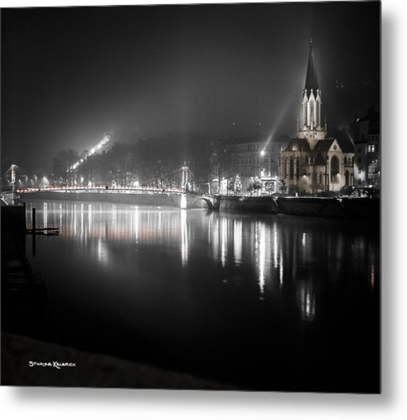 A Cathedral In The Mist Metal Print