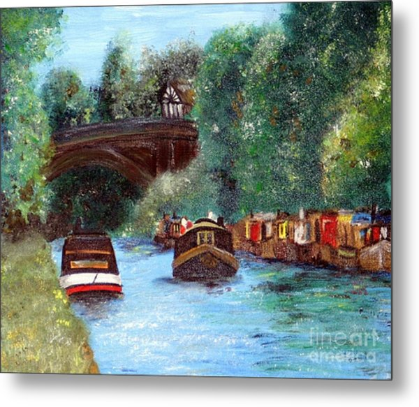 A Cheshire Canal Remembered Metal Print