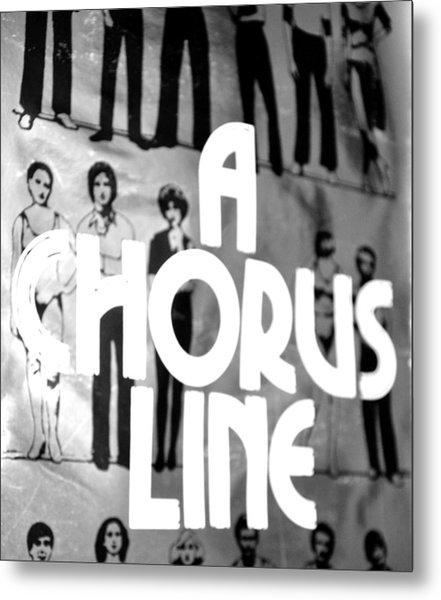 A Chorus Line Vintage Bw Metal Print by Toni Ryder