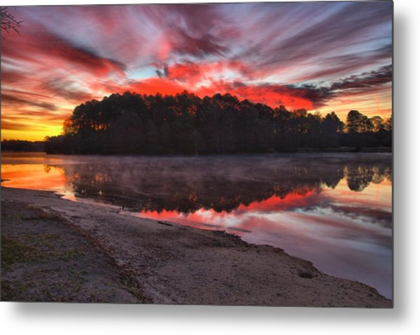 A Christmas Eve Sunrise Metal Print