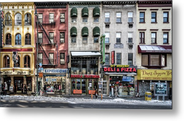 A Cold Day In Ny Metal Print by Peter Pfeiffer