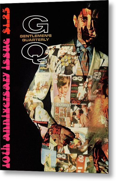 A Collage Of Gq Covers Metal Print by Leonard Nones
