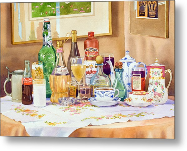 A Collection Of Drinks Metal Print