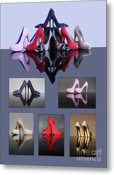 A Collection Of Stiletto Shoes Metal Print