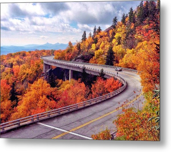 A Colorful Ride Along The Blue Ridge Parkway Metal Print