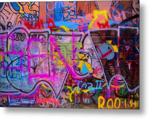 A Colourful Wall. Metal Print