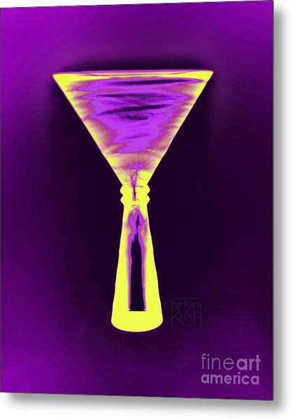 A Complementary Martini Metal Print