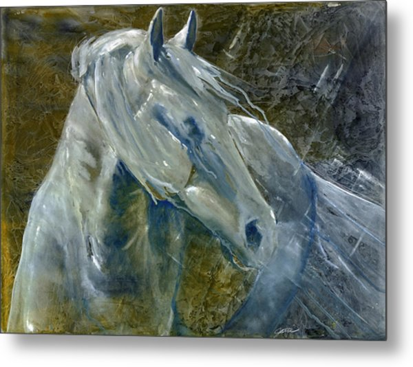 Metal Print featuring the painting A Cool Morning Breeze by Jani Freimann