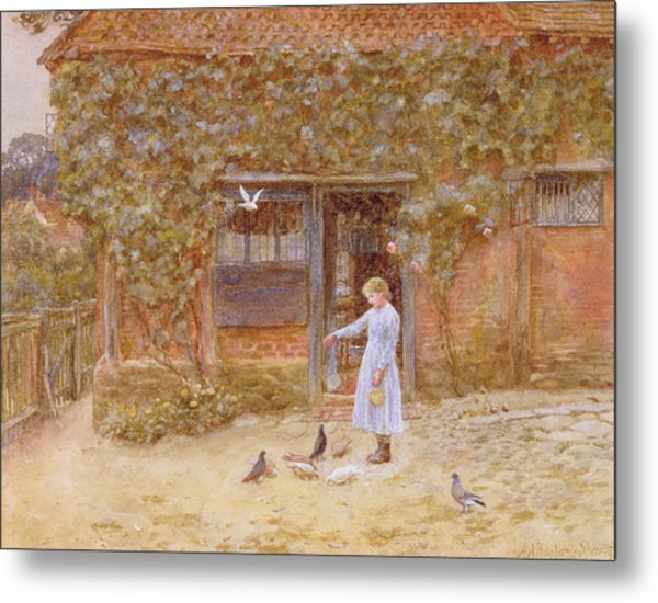 A Cottage At Shere Metal Print