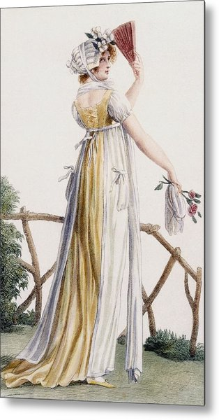 A Country Style Ladies Dress Metal Print