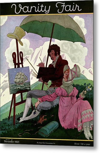 A Couple In Period Dress Metal Print by Pierre Brissaud