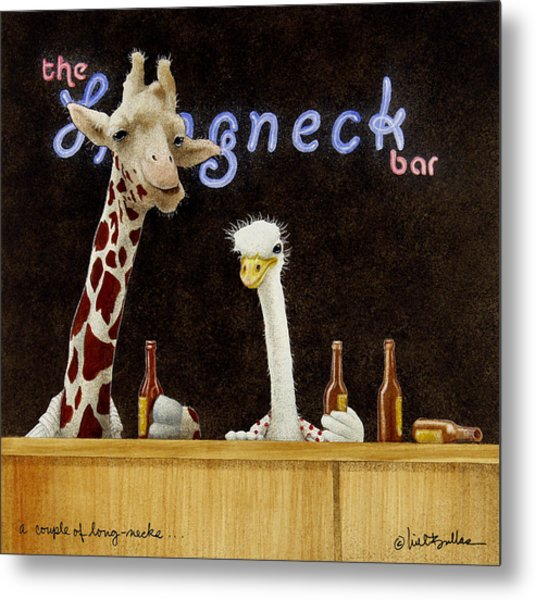 A Couple Of Long-necks... Metal Print