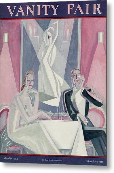 A Couple Sitting At A Table Metal Print by Eduardo Garcia Benito