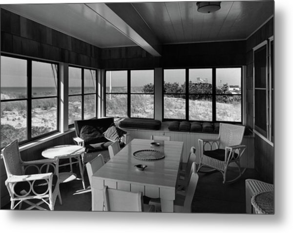 A Covered Porch With A View Metal Print