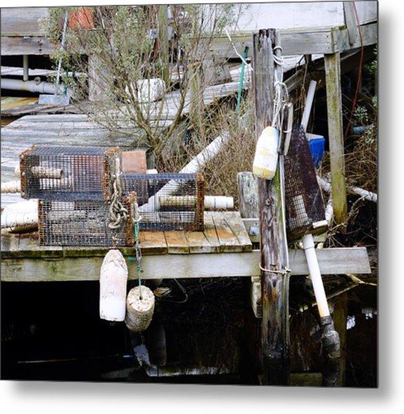 A Crab Fishermans Still Life Metal Print