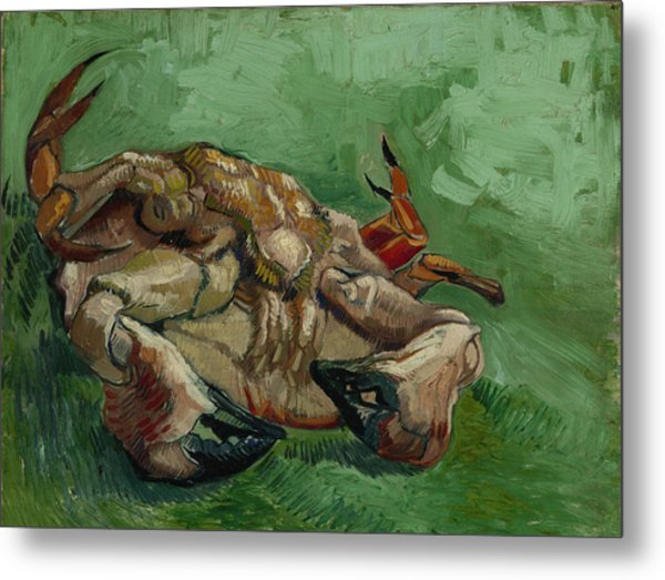 A Crab On Its Back Metal Print by Vincent van Gogh