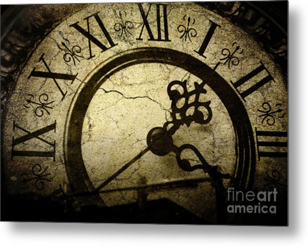 A Crack In Time Metal Print by Sharon Kalstek-Coty