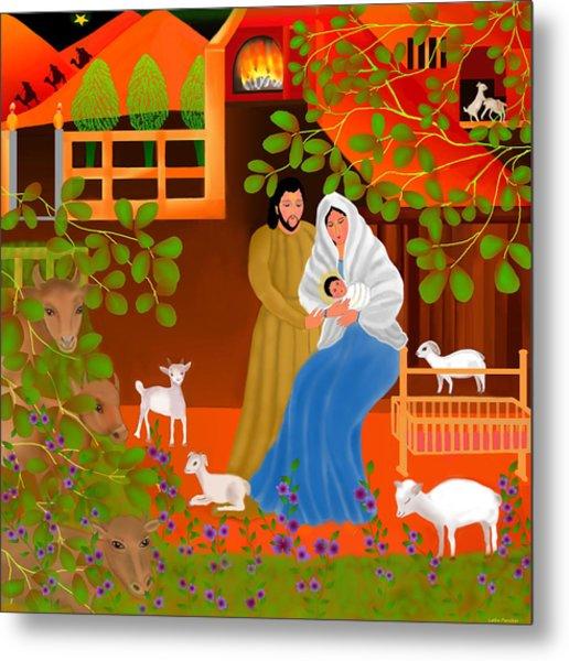 A Cradle In Bethlehem Metal Print