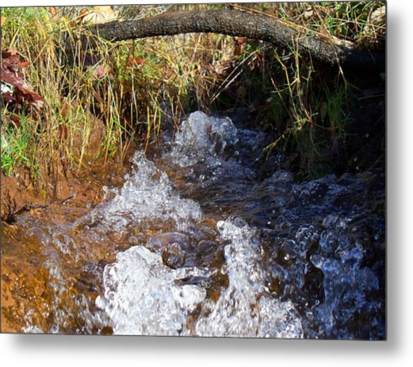 A Dance Of Ripples And Water Metal Print