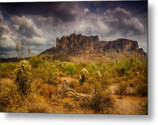 A Day At The Superstitions  Metal Print