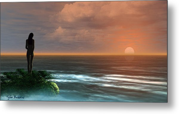 A Day Ends Metal Print