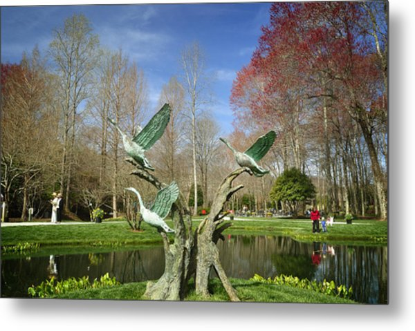 A Day In The Gardens Metal Print
