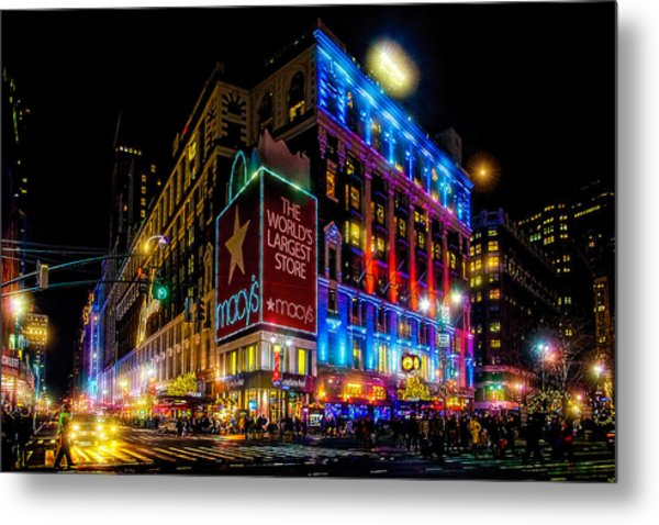 A December Evening At Macy's  Metal Print