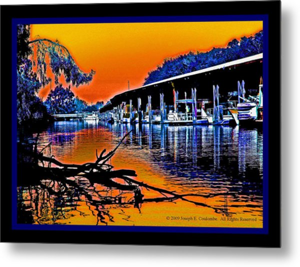 A Delta Sunset  Metal Print