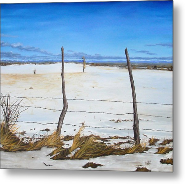 A Desert Winter Metal Print