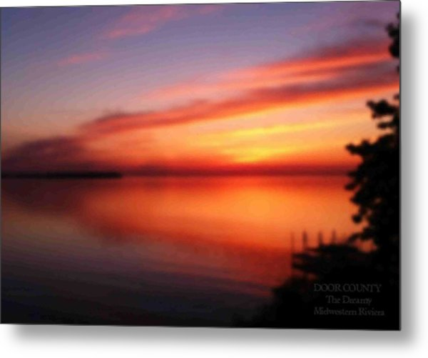 A Dreamy Sunset On The Midwestern Riviera Metal Print