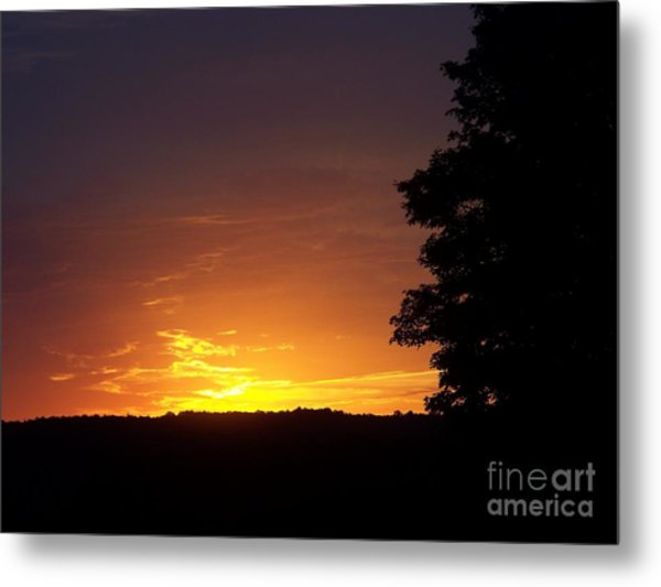 A Fading Sunset Metal Print by Steven Valkenberg