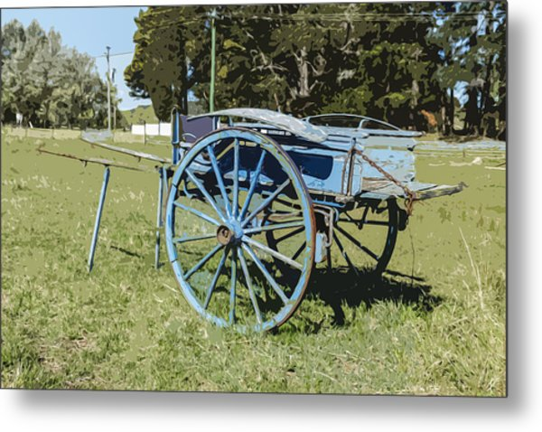 A Farm Relic From The Past Metal Print by Gary Cowling