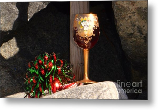 Metal Print featuring the photograph A Fine Beach Christmas by Laurie Lundquist