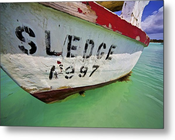 A Fishing Boat Named Sledge Metal Print
