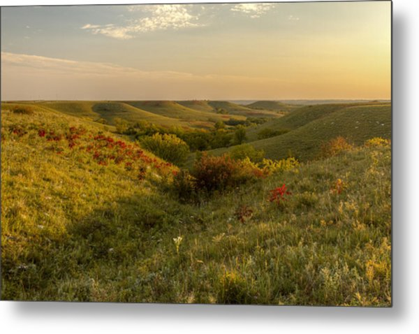A Flint Hills View Metal Print