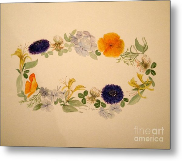 A Flower Circle Metal Print