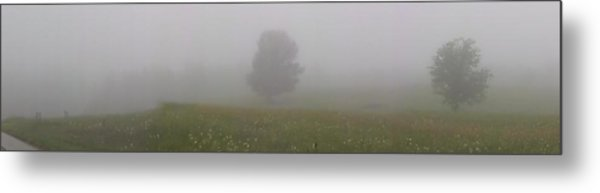 A Foggy Morning On North Haven Metal Print