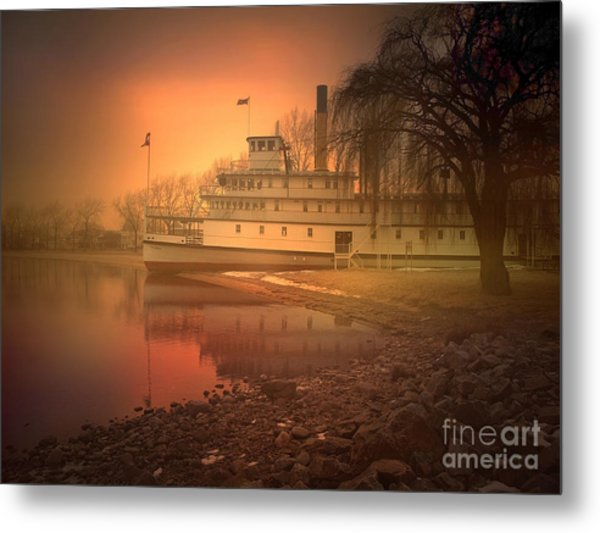 A Foggy Sunrise Metal Print