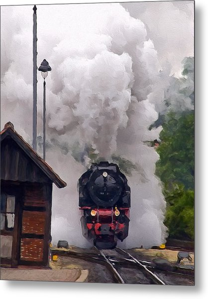 A Full Head Of Steam Metal Print