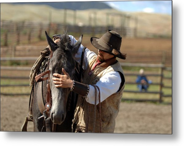 A Gentle Touch Metal Print by Lee Raine