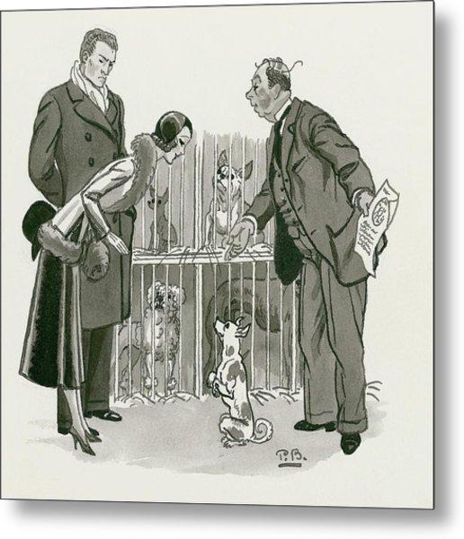 A Gentleman Selling Dogs Metal Print