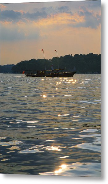 A Glint Of Glory - Lake Geneva Wisconsin Metal Print