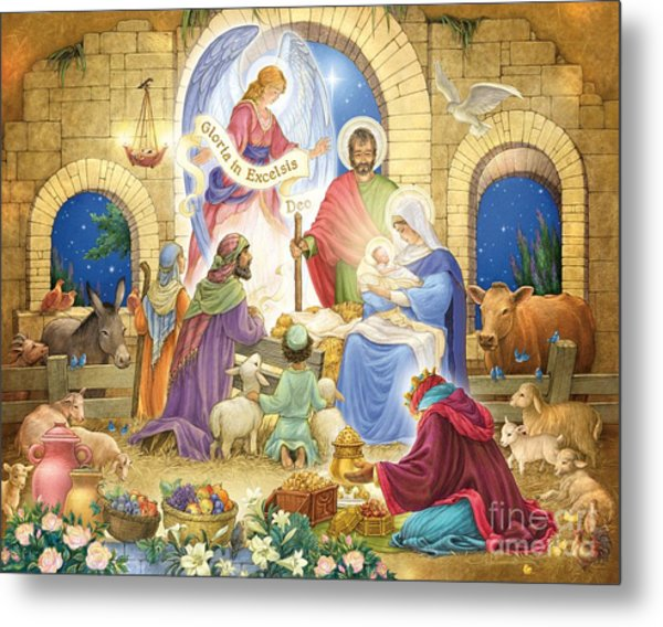 A Glorious Nativity Metal Print